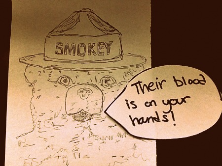 smokey is furious