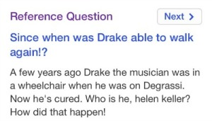 Cause, like, he was in a wheelchair in the show. But now that he's a musician he can walk again. What's the deal, Google?