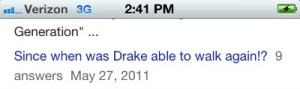 I am confused...wasn't Drake shot in real life in order to make his Degrassi performance for authentic?
