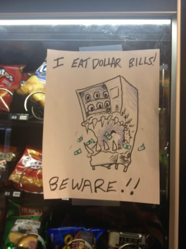 Beware of the vending machine