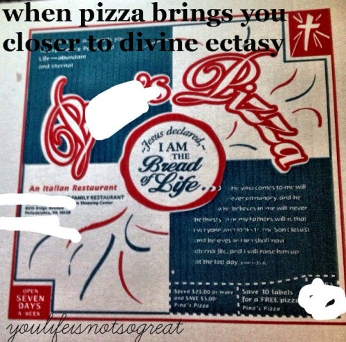 Jesus and I are on the same page when it comes to pizza