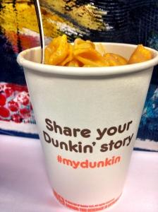 #mydunkin arrives in my tummy through swindling and shame!